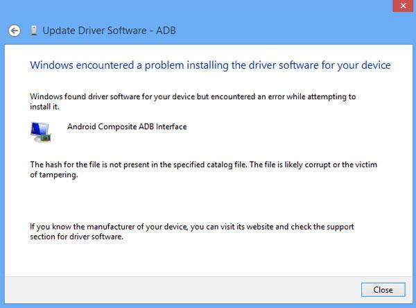 install android adb driver windows 10